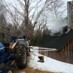 HurryHill Farm Sending Sap to the holding tank at the Sugar House